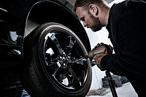 mechanic with impact wrench