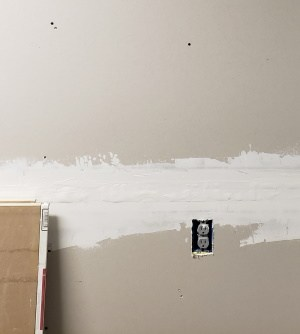 another shot of fire resistant sheetrock in a garage